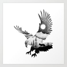 THE EAGLE AND THE FOX Art Print