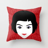 amelie Throw Pillows featuring Amelie by Vivi Nabas