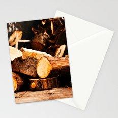 Chopped Wood Stationery Cards