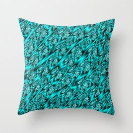 abstract pattern in metal Throw Pillow