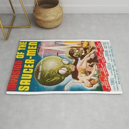 Invasion of the SaucerMen, Horror Movie Vintage Poster Rug