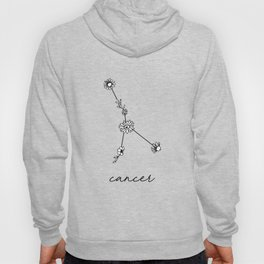 Cancer Floral Zodiac Constellation Hoody