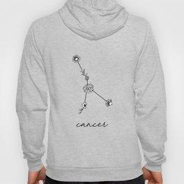 Cancer Floral Zodiac Constellation Hoody