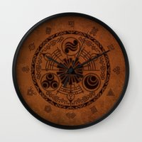 the legend of zelda Wall Clocks featuring The Legend Of Zelda by Electra