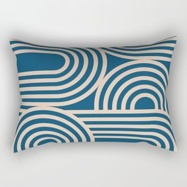 Abstraction_WAVE_GRAPHIC_VISUAL_ART_Minimalism_001 Rectangular Pillow