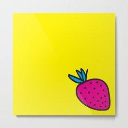 Strawberrious - Magenta/YELLOW Metal Print