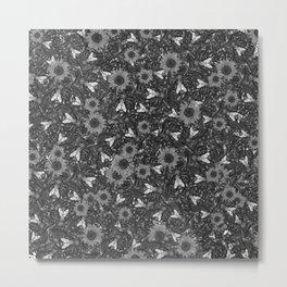 Flys and Flowers Metal Print