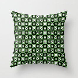 Soccer Motif Pattern Throw Pillow