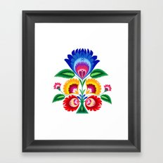 folk flower Framed Art Print