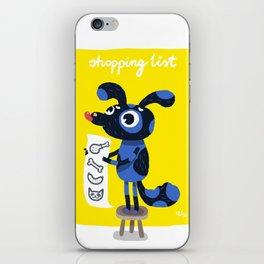 Shopping list iPhone Skin