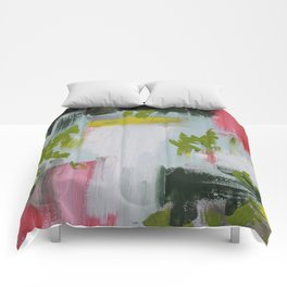 Nature Inspired Abstract Painting Comforters