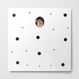 basico white Metal Print