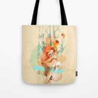 lonely Tote Bags featuring Lonely by Ariana Perez