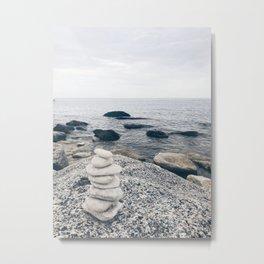 White stones Metal Print