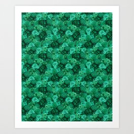 Malachite Swirls in Emerald Garden Art Print
