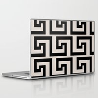 greek Laptop & iPad Skins featuring Greek Key by Charlene McCoy