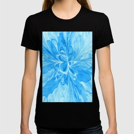 Blue Jeans Colors And White, Abstract Fractal Art T-shirt