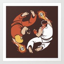 Super Yin Yang Art Print