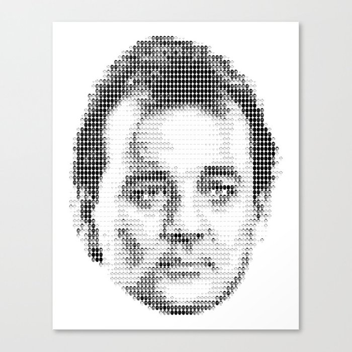 Bill Murray Groundhog Day Meta Portrait  Canvas Print