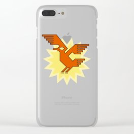 Geometric Andean Condor Bird Clear iPhone Case