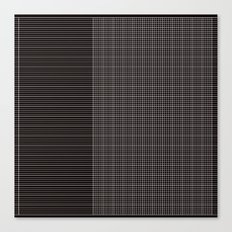 Back to School- Simple Grid Pattern- Black & White- Mix & Match with Simplicity of Life Canvas Print