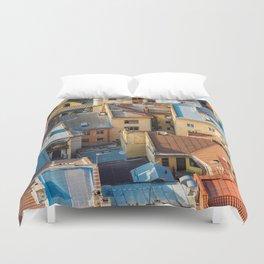 Colors of city Duvet Cover