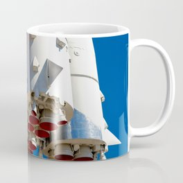 Cluster Of A Vintage Space Rocket Engines Against The Blue Sky Coffee Mug
