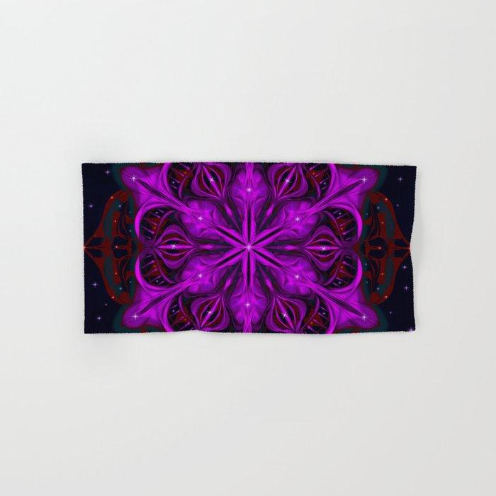 Spaceborne Orchid Snowflake Hand & Bath Towel