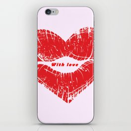 With my love iPhone Skin
