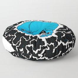 Lightning Skull Floor Pillow