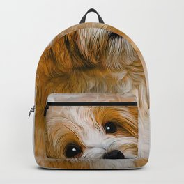 Maltese Dog Art Backpack