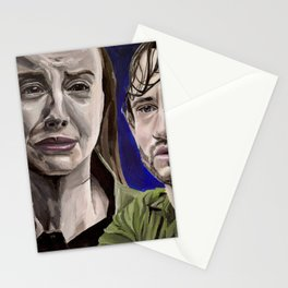 Abigail and Will, acrylic painting Stationery Cards