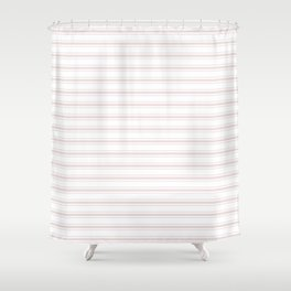 Large Alice Pink And White Mattress Ticking Stripes Shower Curtain