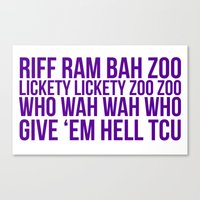 riff raff Canvas Prints featuring Riff Ram by Laura Willig