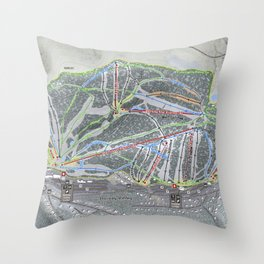 Holiday Valley Trail Map Throw Pillow