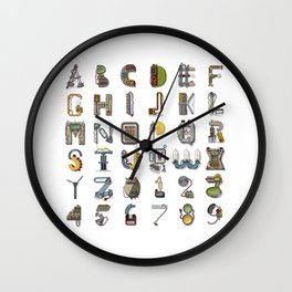 MACHINE LETTERS Wall Clock