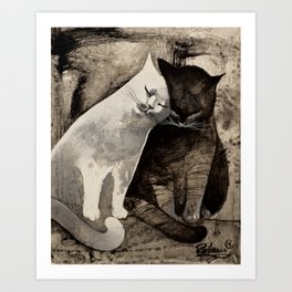 MORNING KISS by Raphaël Vavasseur Art Print