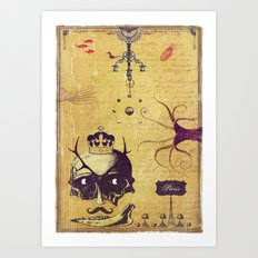 Love burns brightest in the dark Art Print
