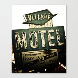 Village Motel Canvas Print