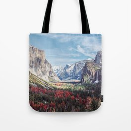 Tunnel View Yosemite Valley Tote Bag