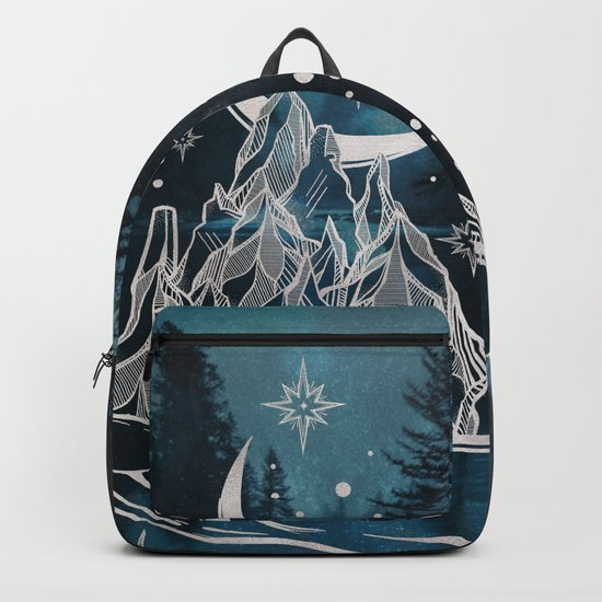 Adventure Is Out There Forest Lake Reflection Backpack