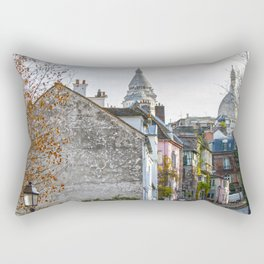 French street in Montmartre, Paris Rectangular Pillow