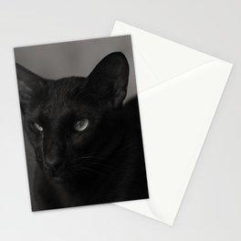Oriental black cat Stationery Cards
