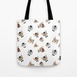 Cat People Pattern Tote Bag