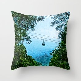 Travelling the mist Throw Pillow