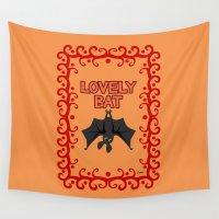 bat Wall Tapestries featuring Lovely Bat by BATKEI