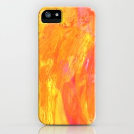 Sunny Yellow Vibes Abstract Version 2 iPhone Case