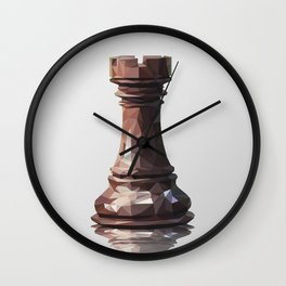 rook low poly Wall Clock