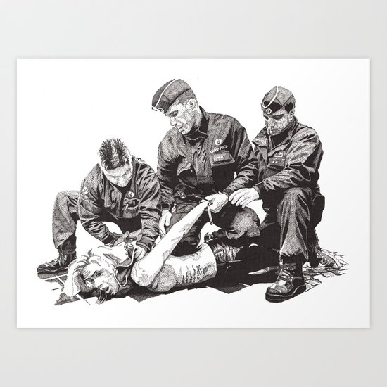Police Brutality Art Print