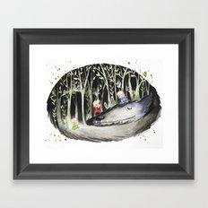 When the Wolf Sleeps Framed Art Print